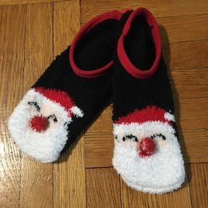 NEW! Santa Holiday Cozy Women's Socks